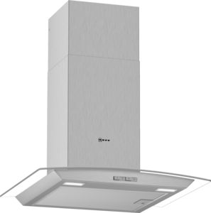 Neff D64ABC0N0B St/St 60cm Curved Extractor Hood - £363
