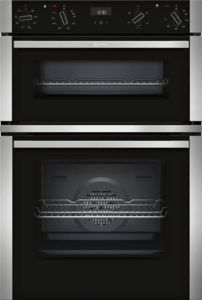 Neff U1ACE2HN0B Black Built-in Double Oven - £775