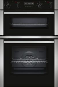 Neff U2ACM7HN0B Black Pyrolytic Built-in Double Oven - £1,427