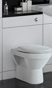 Primo WC unit with cistern, pan & seat, and worktop